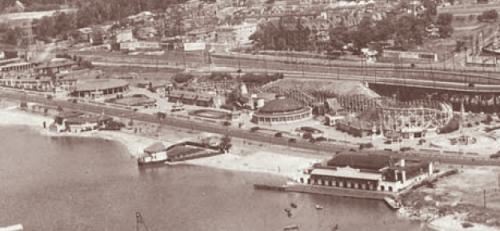 Aerial of Sunnyside Amusement Park 1926