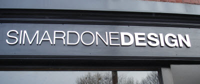 Simardone design has a nice sign...