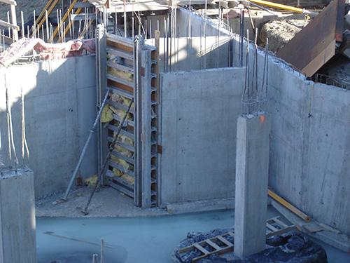Concrete from closeup
