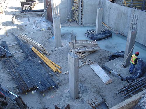 Building 1 lowest level undercontsruction
