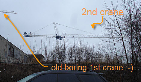 second crane as viewed from Junction Rd.