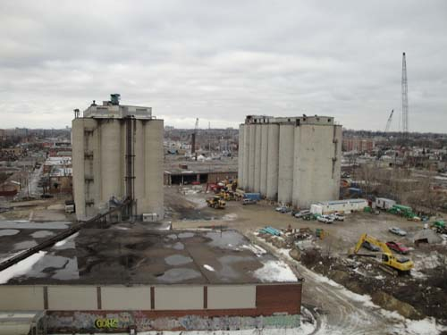From the current working level looking at the grain silos
