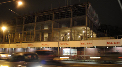 Our 1st night image of the upcoming Village by the Park building