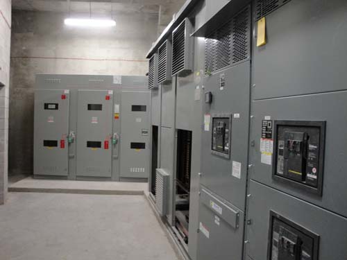 Two cases to the right (at rear) are Toronto Hydro control switches