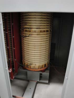 inside one of the step-down transformers