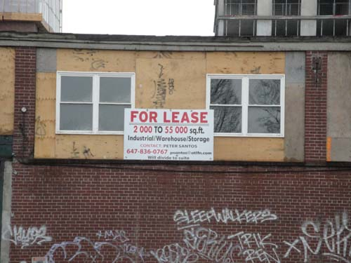 43 Junction Rd lease sign too bad it's not for studios